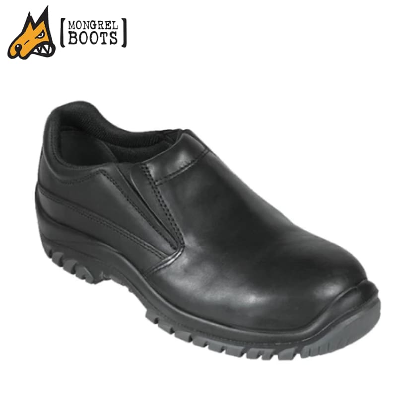 Mongrel S Safety Shoe Slip-On Black Workwear