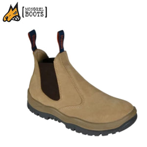 Mongrel Sc Safety Boot Elastic Side Scuff Cap Wheat Workwear