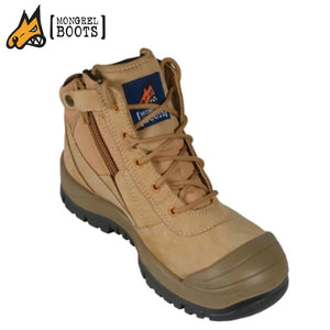 Mongrel Sc Safety Boot Zipsider Scuff Cap Wheat Workwear