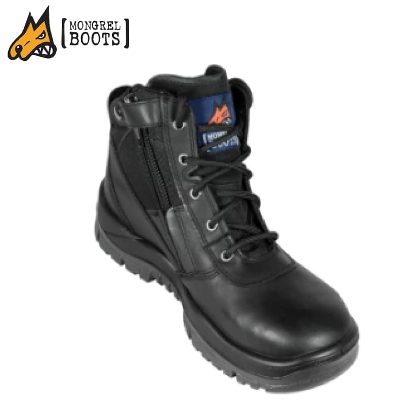 Mongrel Se Boot Non-Safety Side Zip Ankle Black Workwear