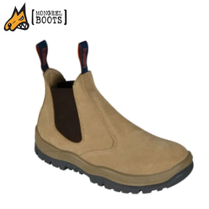 Mongrel T Safety Boot Elastic Side Suede Wheat Workwear