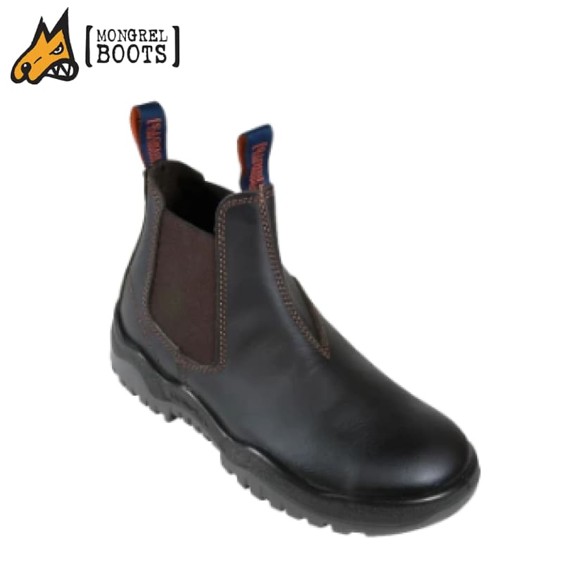 Mongrel T Safety Boot Elastic Side V-Cut Oil Kip Claret Workwear