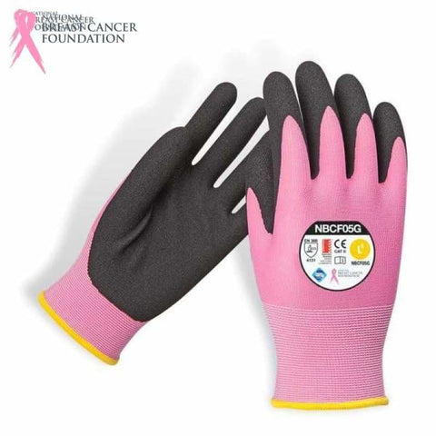 Nbcf Cut 5 Nitrile Foam Glove Aus Std Cert Pink S Safety Wear