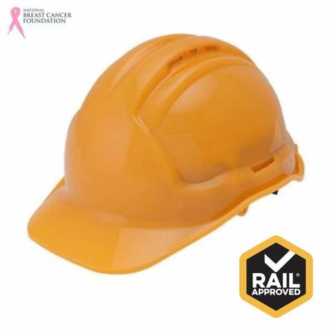 Nbcf Hard Hat Ratchet Harness Clearview Vented Rail Spec Safety Wear