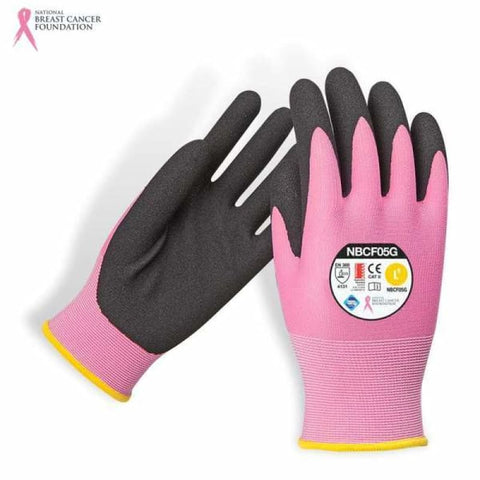 Nbcf Nitrile Synthetic Glove Aust Std Cert Pink S Safety Wear
