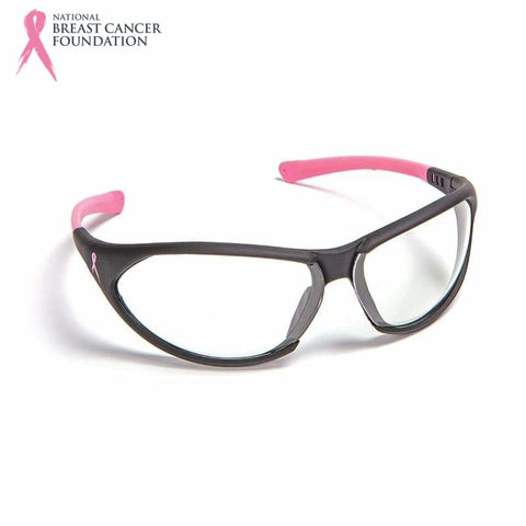 Nbcf Premium Safety Glasses Clear Lens Black/pink Pink Wear