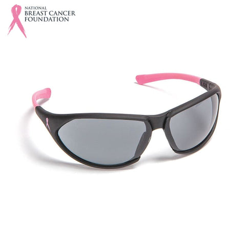 Nbcf Premium Safety Glasses Smoke Lens Black/pink Pink Wear