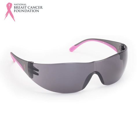 Nbcf Wrap-Around Safety Glasses Smoke Lens / Pink Wear