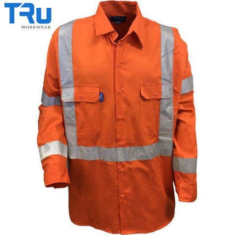 Nsw Rail Shirt With Performed Tape S / Beyond Blue Orange Workwear