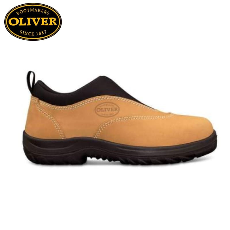 Oliver 34-615 Safety Sports Shoe Slip-On Nubuck Wheat Footwear