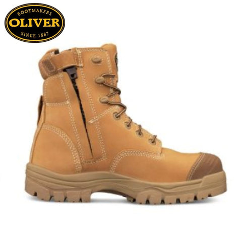 Oliver 45-632Z Safety Boot Zip/lace Bump Cap Wheat Footwear