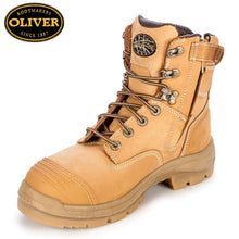 Load image into Gallery viewer, Oliver 55-332Z Safety Boot Zip/lace Bump Cap Wheat Footwear