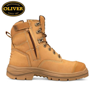 Oliver 55-332Z Safety Boot Zip/lace Bump Cap Wheat Footwear