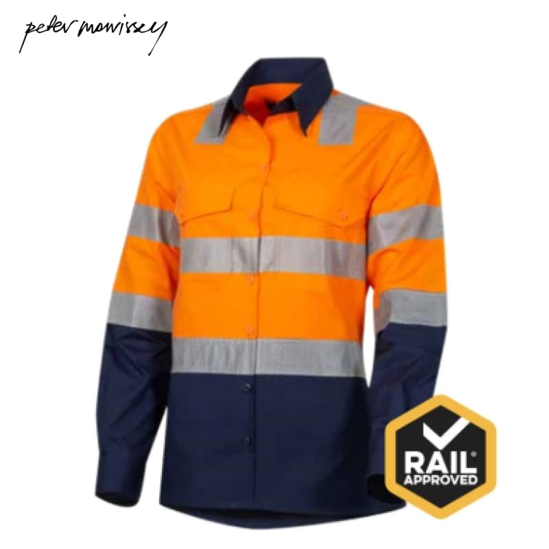 Peter Morrissey-Ladies Premium Ripstop Shirt 3M Tape Vents Vic Rail Spec Workwear