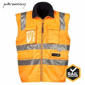 Peter Morrissey- Premium 5 In 1 Ripstop Rain Jacket 3M Tape Rail Spec Workwear
