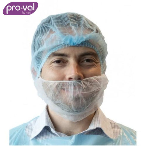 Pro-Val Beard Cover Single Loop White (Ctn 100X5) Safety Wear
