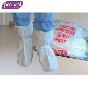 Pro-Val Boot Cover Non-Skid Sms White (Ctn 50X10) Safety Wear