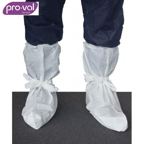 Pro-Val Boot Cover Waterproof Cpe White (Ctn 50X10) Safety Wear