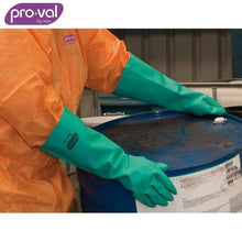Load image into Gallery viewer, Pro-Val Chemical Glove 100% Nitrile 46S - Unlined X-Long Green X 12 Pr Safety Wear