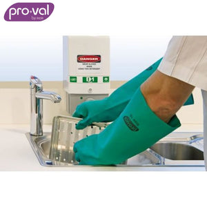 Pro-Val Chemical Glove 100% Nitrile 46S - Unlined X-Long Green X 12 Pr Safety Wear
