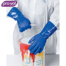 Load image into Gallery viewer, Pro-Val Chemical Glove Trojan Pvc Cotton Liner Long Blue (Ctn 12Pr X 12) Safety Wear
