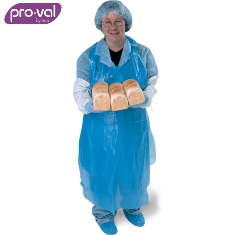 Pro-Val Disposable Apron Polyethylene Blue (Ctn 50X10) Safety Wear