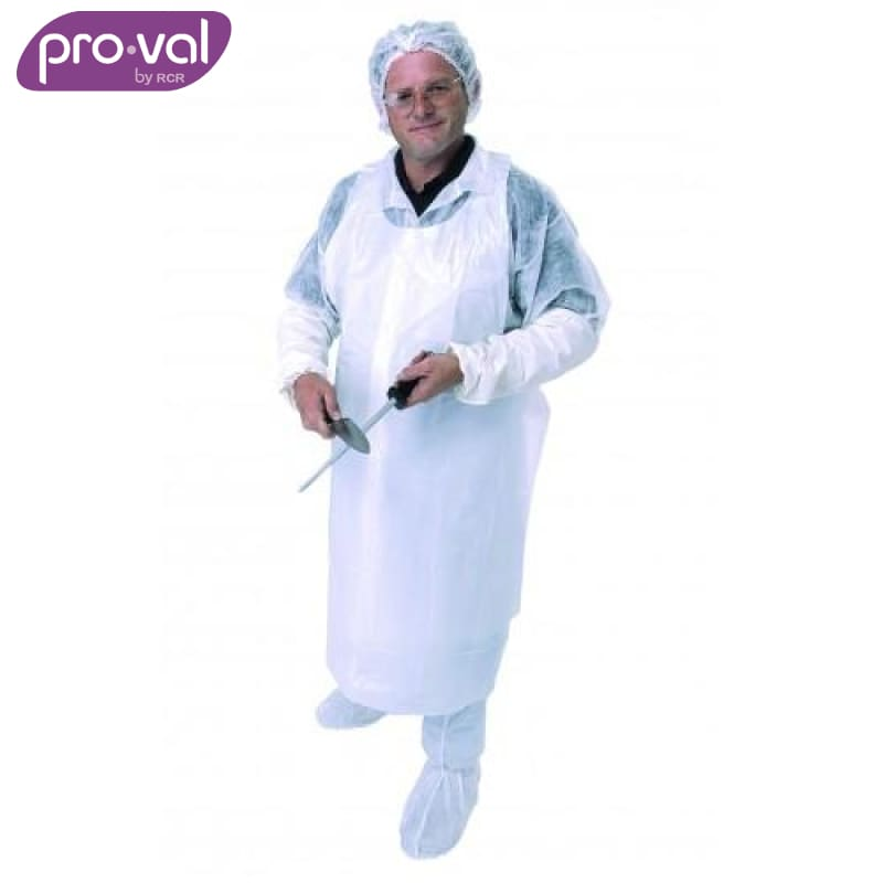 Pro-Val Disposable Apron Polyethylene White (Ctn 50X10) Safety Wear