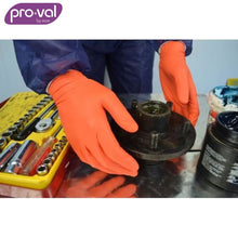 Load image into Gallery viewer, Pro-Val Disposable Glove Nitrile Orange Powder Free (Ctn 100X10) Safety Wear
