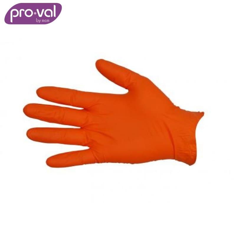 Pro-Val Disposable Glove Nitrile Orange Powder Free (Ctn 100X10) Safety Wear