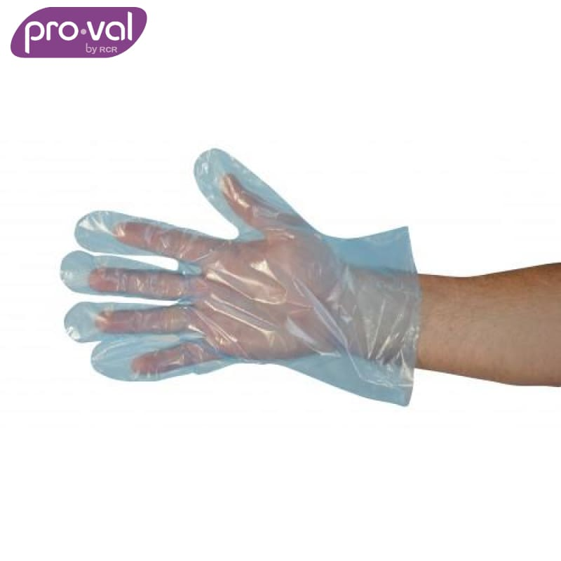 Pro-Val Disposable Poly Glove Polyethylene Embossed Blue (Ctn 500X20) Safety Wear