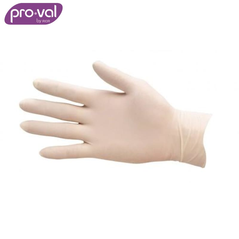 Pro-Val Exam Glove Securitex Latex Powdered (Ctn 100X10) Safety Wear