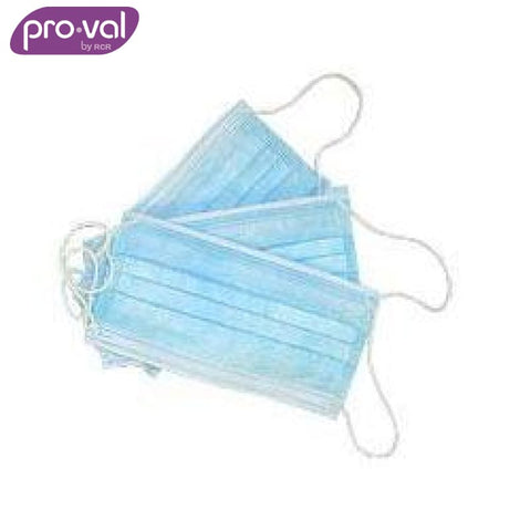 Pro-Val Face Mask With Ear Loops Blue (Ctn 20X50) Safety Wear