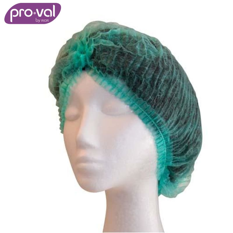 Pro-Val Hair Cap Crimped Beret Polyprop 21 Green (Ctn 100X10) Safety Wear