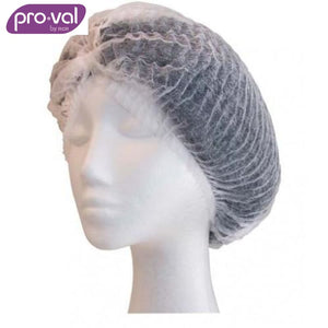 Pro-Val Hair Cap Crimped Bouffant Polyprop 24 White (Ctn 100X10) Safety Wear