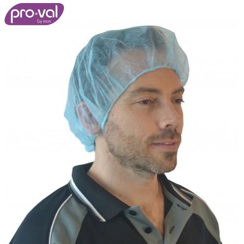 Pro-Val Hair Cap Round Bouffant Polyprop 21 Blue (Ctn 100X10) Safety Wear