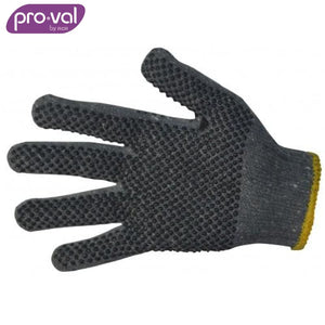 Pro-Val Knit Glove Poly/cotton Pvc Dot Palm Grey (Ctn 12 Pr X 20) Safety Wear