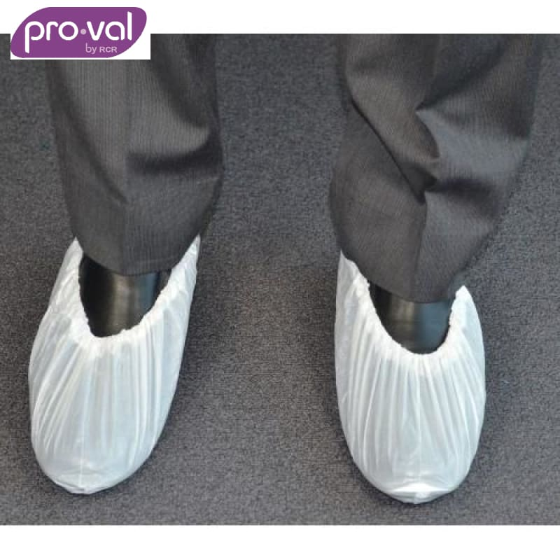 Pro-Val Shoe Covers Pe Gloshie White (Ctn 100X10) Safety Wear