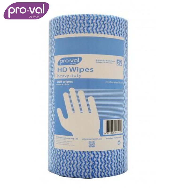 Pro-Val Wipes Heavy Duty Mesh Blue (Ctn 6 Rolls X 100 St) Safety Wear