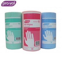 Load image into Gallery viewer, Pro-Val Wipes Heavy Duty Mesh Green (Ctn 6 Rolls X 100 St) Safety Wear