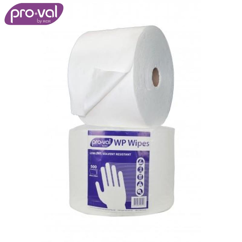 Pro-Val Wipes Poly/pulp Solvent Wipes White (Ctn 2 Rolls X 500 St) Safety Wear