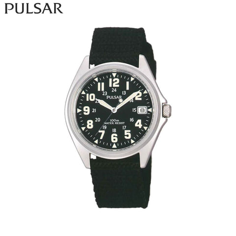 Pulsar - Watch Stainless Steel Mens Black/silver Safety Wear