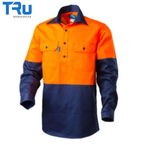 TRu Workwear - Shirt, Cotton Drill, Closed Front, O/N