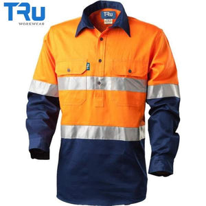 TRu Workwear - Shirt, Cotton Drill, Closed Front, 3M Tape, O/N