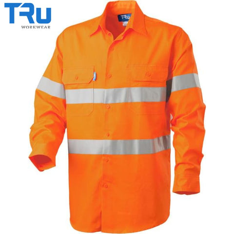 Regular Weight Hi Vis Shirt With 3M Tape S / Beyond Blue Orange Workwear