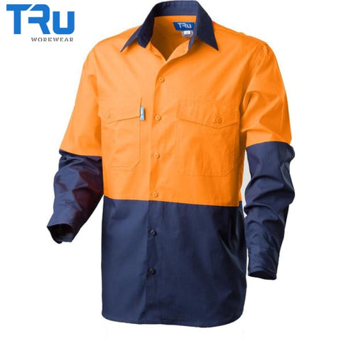 Rip Stop Cool Performance Hi Vis Shirt S / Beyond Blue Orange Workwear