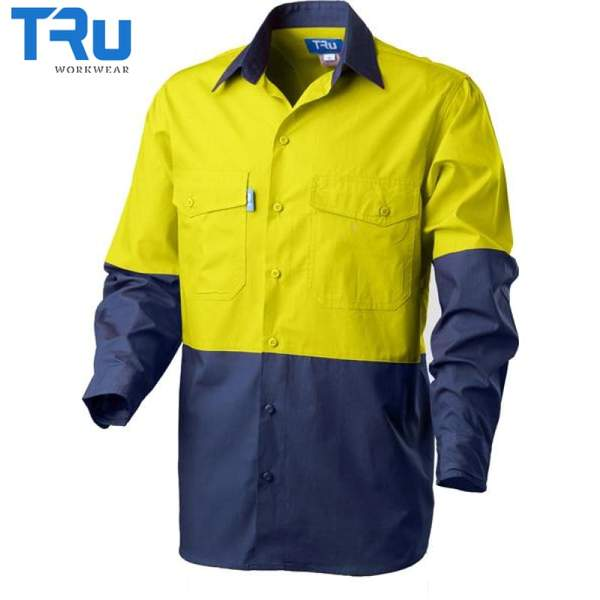 TRu Workwear - Shirt, Cool Ripstop, Horz Vents,Y/N