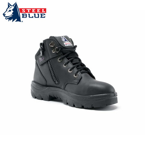 Steel Blue Ladies Safety Boot Parkes Zip Black Workwear