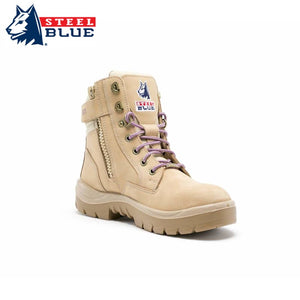 Steel Blue Ladies Safety Boot Southern Cross Zip Sand Footwear