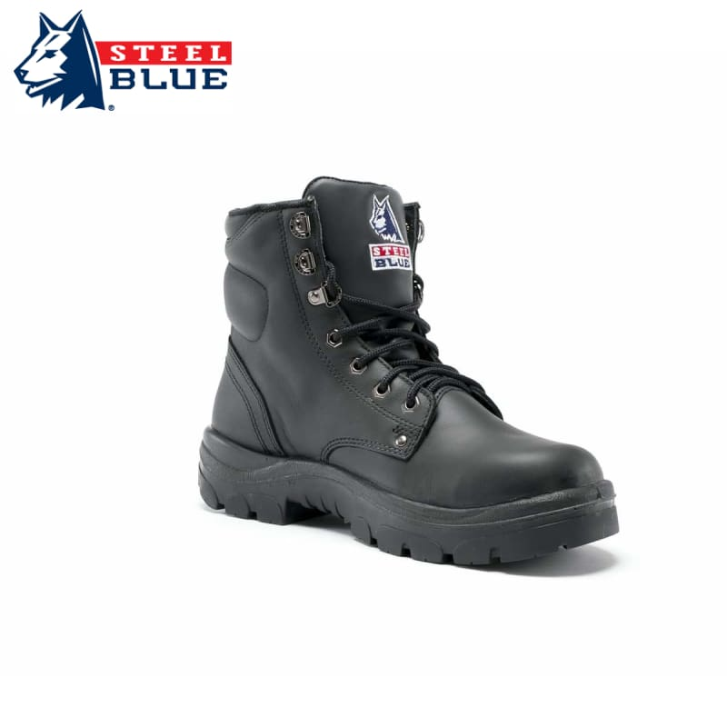 Steel Blue Safety Boot Argyle Lace-Up Black Footwear