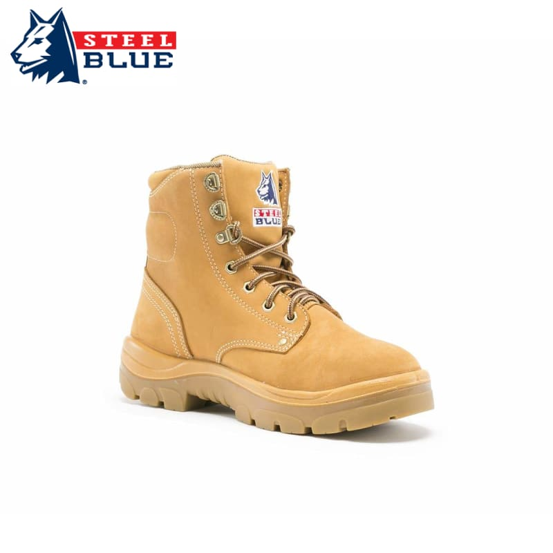 Steel Blue Safety Boot Argyle Lace-Up Wheat Footwear